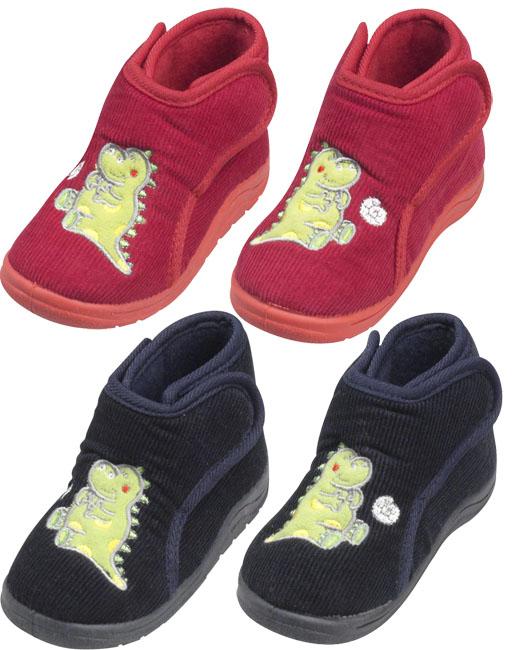 Dětské bačkory na zip s dinosaurem