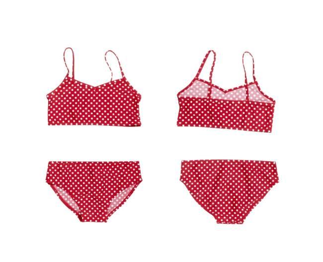 Dívčí plavky dvoudílné - puntíky