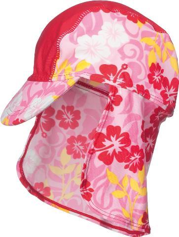 Dětská čepice s kšiltem a UV ochranou- Hawaii Rose